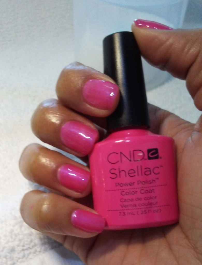 NailMua: Natural Pink CND Shellac