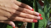 NailMua: Orange French Bling