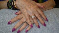 NailMua: Purple Glitter Natural