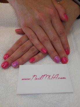 NailMua: Pink Marble Gel Polish Nailart