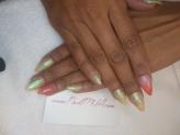 NailMua: Orange Mood Changing Ombre Gold Stiletto