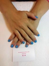 NailMUA: Light Blue Gel Polish Mani