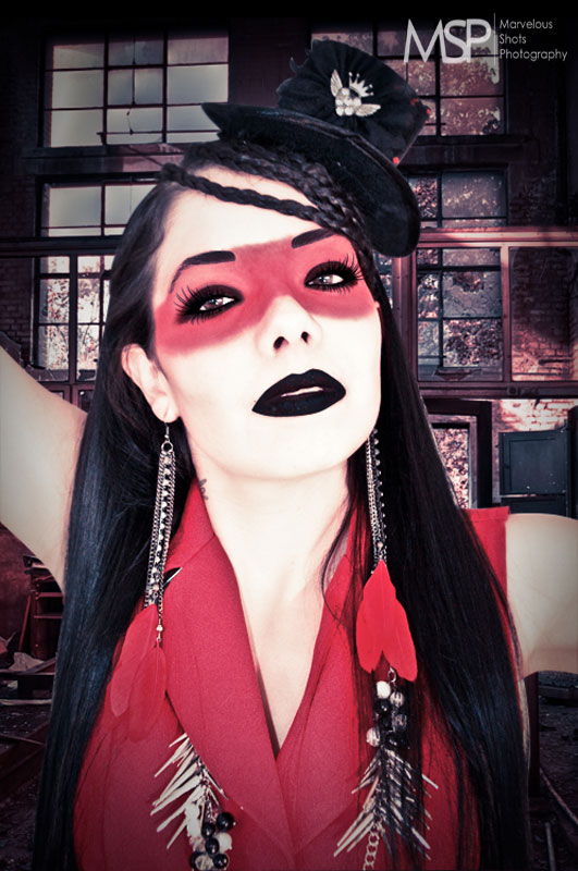 NailMUA: Red Black Matte Headshot