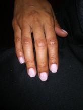NailMUA: Pink and White Gel Polish Nailart