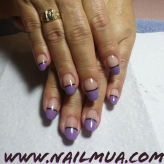 Medium Length Acrylic Overlay with Colored French Tip $75