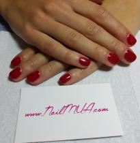 Red Gel Manicure $40