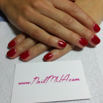 Red Gel Manicure $40
