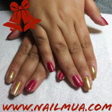 Red+ Gold Holiday Nails $65