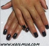 Black Gel Manicure