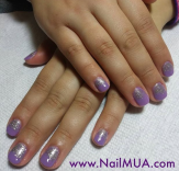 Purple + Glitter Ombre $60