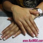 French Tip Gel Polish $50