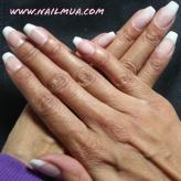 Pink and White Long Coffin Shape IBD Gel Builder Overlay $85