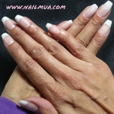 Pink and White Long Coffin Shape IBD Gel Builder Overlay $85