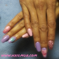 Medium Length Gel Builder + Nail Art $100