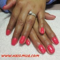 Coral Gel Polish Manicure $40