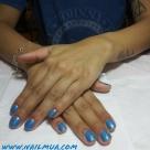 Blue Gel Manicure $40