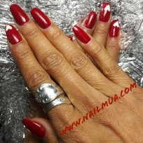 Medium Length Gel Builder + Nail Art $80