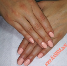 Light Coral Gel Manicure $40