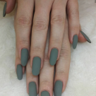 Matte Grey Gel Manicure $40