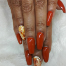 Long Coffin Fullset + Marble Nailart $75