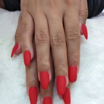 Medium Matte Red Nails $60